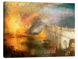 Canvas print  The Burning of the Houses of Lords and Commons - Joseph Mallord William Turner