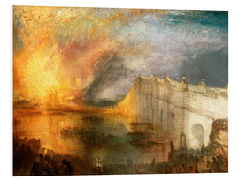 Foam board print  The Burning of the Houses of Lords and Commons - Joseph Mallord William Turner