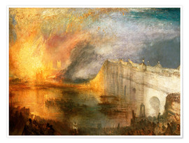 Premium poster The Burning of the Houses of Lords and Commons