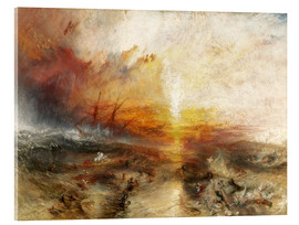 Acrylic glass  The slave ship - Joseph Mallord William Turner