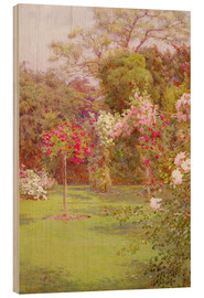Wood print  A Rose Garden - Edith Helena Adie