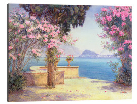 Aluminium print  Bellagio, from the garden of the Grand Hotel, Menaggio - Edith Helena Adie