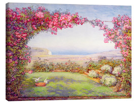 Canvas print  A garden with a rose arch - Edith Helena Adie