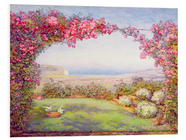 Foam board print  A garden with a rose arch - Edith Helena Adie