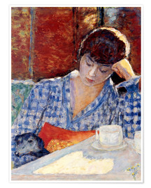 Premium poster Woman with a dog