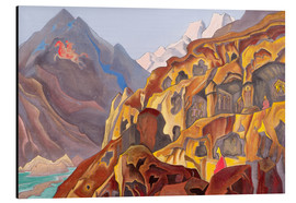Alu-Dibond  The sacred caves - Nicholas Roerich