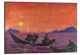 Aluminium print  And we continue to fish - Nicholas Roerich