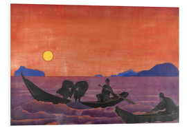 Foam board print  And we continue to fish - Nicholas Roerich