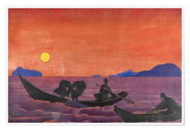 Poster  And we continue to fish - Nicholas Roerich