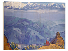 Wood print  Book of wisdom - Nicholas Roerich