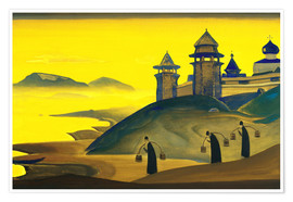 Premium poster  And We are Trying - Nicholas Roerich