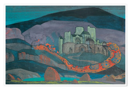 Premium poster  The Doomed City - Nicholas Roerich