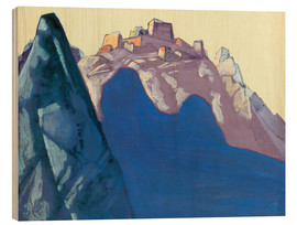 Wood  Fort Atop Mountain - Nicholas Roerich