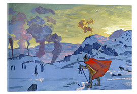Acrylic print  The signal fires of peace - Nicholas Roerich