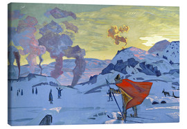 Canvas print  The signal fires of peace - Nicholas Roerich
