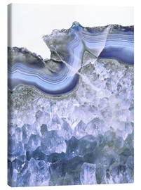 Canvas print  Agate in water blue - Emanuela Carratoni