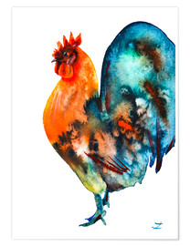 Premium poster Tall Standing Rooster