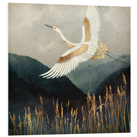 Foam board print  Elegant Flight of a Crane - SpaceFrog Designs