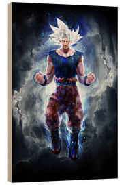 Wood print  Ultra Instinct Goku master - Barrett Biggers