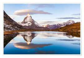 Poster  Sunrise at the Matterhorn in Switzerland - Dieterich Fotografie