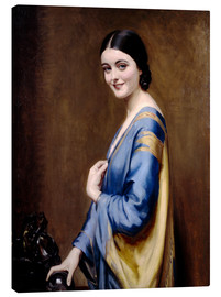 Canvas print  Blue, golden dress - Albert Henry Collings
