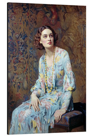 Alu-Dibond  Portrait of a Lady - Albert Henry Collings