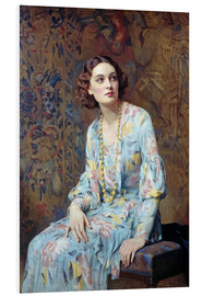 Foam board print  Portrait of a Lady - Albert Henry Collings