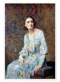 Premium poster  Portrait of a Lady - Albert Henry Collings