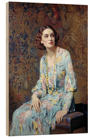 Wood print  Portrait of a Lady - Albert Henry Collings