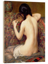 Wood print  A Reflection - Albert Henry Collings