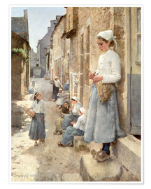 Premium poster  A Street in Brittany - Stanhope Alexander Forbes