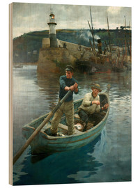 Wood print  The Lighthouse - Stanhope Alexander Forbes