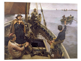 Foam board print  Off to the Fishing Ground - Stanhope Alexander Forbes