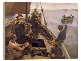 Wood print  Off to the Fishing Ground - Stanhope Alexander Forbes