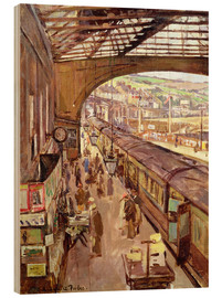 Wood print  Penzance, Railway Station - Stanhope Alexander Forbes