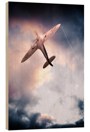Wood print  Spitfire, One of The Few - airpowerart