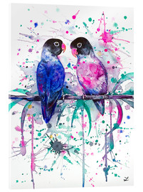 Acrylic print  Love is in the air! Lovebirds - Zaira Dzhaubaeva