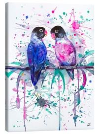 Canvas  Love is in the air! Lovebirds - Zaira Dzhaubaeva