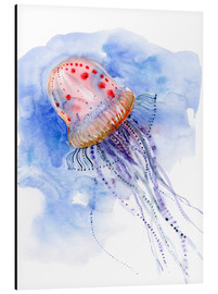 Aluminium print  Jellyfish - deep sea diving - Verbrugge Watercolor