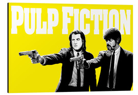 Alu-Dibond  Pulp Fiction Yellow BANG - Paola Morpheus