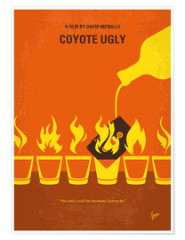 Premium poster No909 My Coyote Ugly minimal movie poster