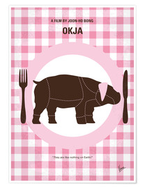 Premium poster No921 My Okja minimal movie poster