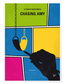 Premium poster No910 My Chasing Amy minimal movie poster