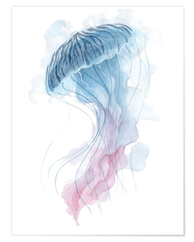 Premium poster Watercolor Jellyfish