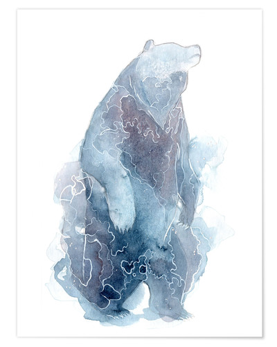 Premium poster Watercolor Standing Bear