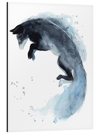 Aluminium print  Watercolor fox - Déborah Maradan