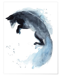 Premium poster Watercolor fox