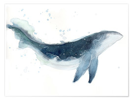 Premium poster Watercolor Whale