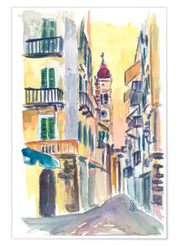 Premium poster Marvellous Corfu Streets in Greece