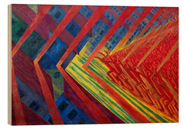 Wood print  The revolt - Luigi Russolo